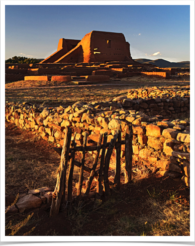 Pecos Mission-evening light (Z6687).jpg